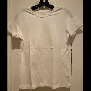 NWT Carole Little white s/s t-shirt, small